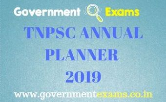 TNPSC ANNUAL PLANNER 2019