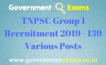 TNPSC Group 1 Recruitment 2019