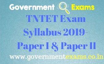 TNTET Exam Syllabus