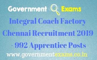 ICF Chennai Recruitment 2019