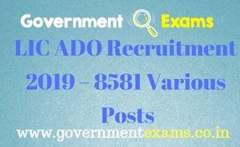 LIC ADO Recruitment 2019