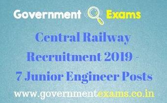 Central Railway Recruitment 2019