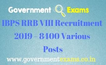 IBPS RRB VIII Recruitment 2019