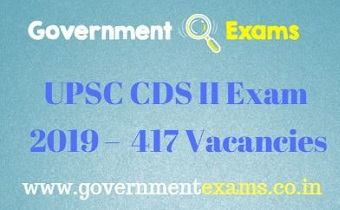 UPSC CDS II Exam 2019