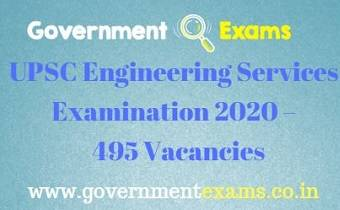 UPSC ESE Recruitment 2019