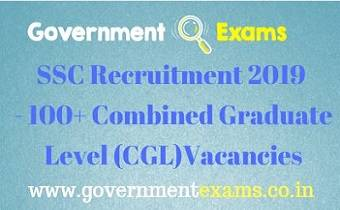 SSC CGL Recruitment 2019