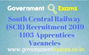 SCR Apprentices Recruitment 2019