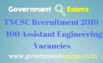 TNCSC Assistant Engineer Recruitment 2019