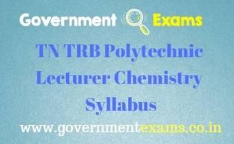 TN TRB Chemistry Syllabus