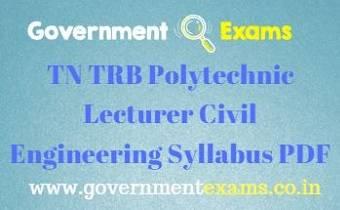 TN TRB Polytechnic Civil Engineering Syllabus