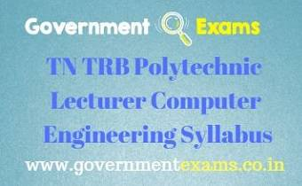 TN TRB Polytechnic Computer Engineering Syllabus