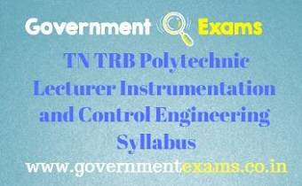 TN TRB ICE Syllabus