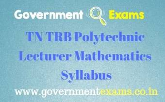TN TRB Polytechnic Maths Syllabus