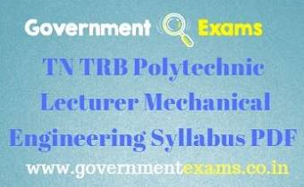 TN TRB Polytechnic Mechanical Engineering Syllabus