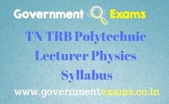 TN TRB Physics Syllabus