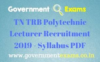 TN TRB Polytechnic Lecturer Syllabus 2020 PDF