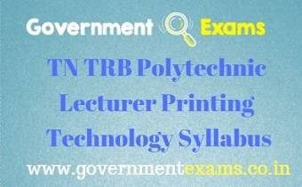 TN TRB Printing Technology Syllabus