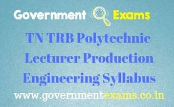 TN TRB Production Engineering Syllabus