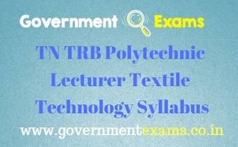 TN TRB Textile Technology Syllabus