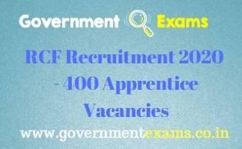 RCF Recruitment 2020