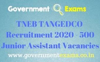 TNEB Junior Assistant Recruitment 2020