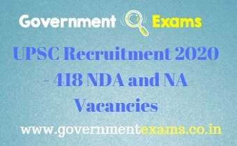 UPSC NDA and NA Recruitment 2020