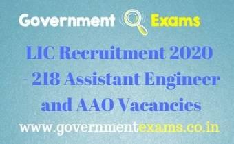 LIC AE and AAO Recruitment 2020