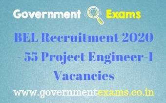 BEL Project Engineer Recruitment 2020