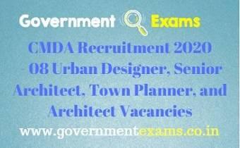 CMDA Recruitment 2020