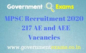 MPSC AE and AEE Recruitment 2020