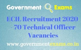 ECIL Technical Officers Recruitment 2020