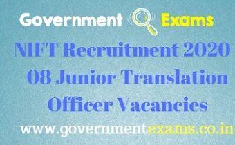 NIFT Junior Translation Officer Recruitment 2020