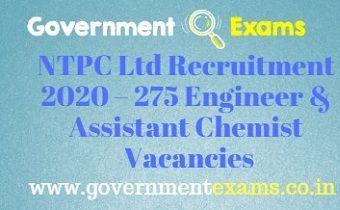 NTPC Ltd Recruitment 2020