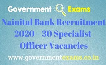 Nainital Bank Specialist Officer Recruitment 2020