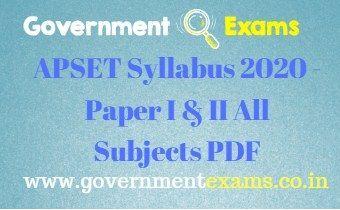 APSET Syllabus 2020
