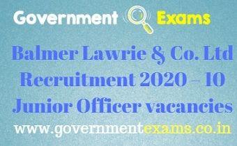 Balmer Lawrie & Co. Ltd Recruitment 2020