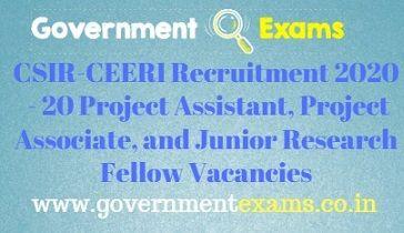 CSIR-CEERI Recruitment 2020