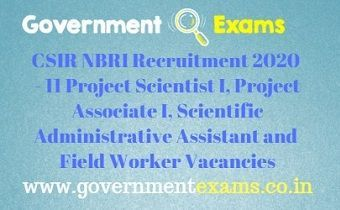 CSIR NBRI Recruitment 2020