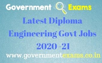 Diploma Engineering Govt Jobs