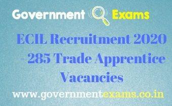 ECIL ITI Trade Apprentice Recruitment 2020