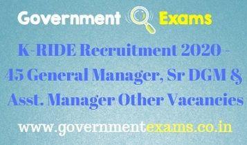 K-RIDE Recruitment 2020