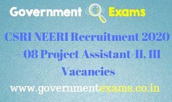 NEERI Recruitment 2020