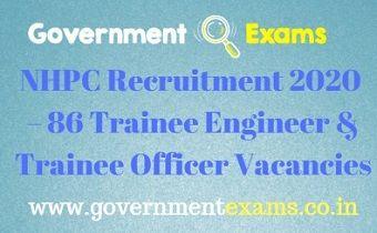 NHPC Recruitment 2020