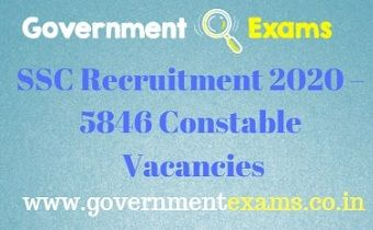 SSC Constable Recruitment 2020
