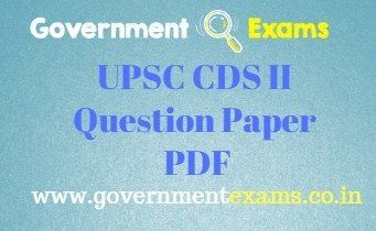 UPSC CDS 2 Question Paper PDF