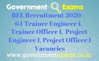 BEL India Recruitment 2020