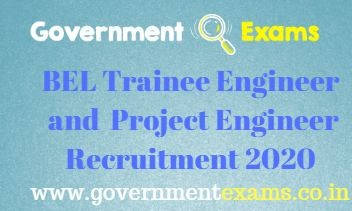 BEL Trainee Engineer and Project Engineer Recruitment 2020