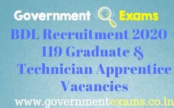 Bharat Dynamics Limited Recruitment 2020