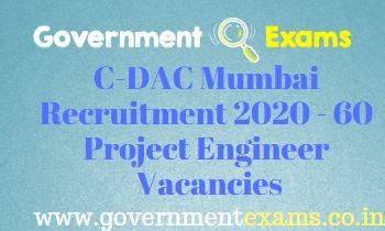 CDAC Project Engineer Recruitment 2020
