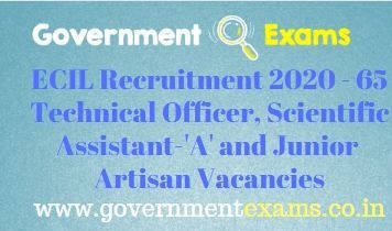 ECIL Technical Officer and Scientific Assistant Recruitment 2020